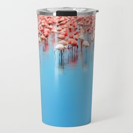 Flamboyance of Flamingo's Travel Mug