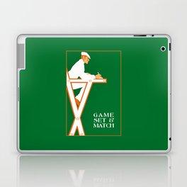 Game set and match retro tennis referee Laptop & iPad Skin