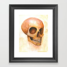 deaths grinning head Framed Art Print