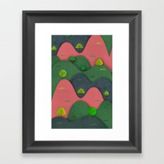 Hills are alive Framed Art Print