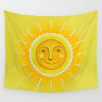 sunshine Wall Tapestries featuring Sunshine by Rosalie Street