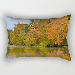 Autumn Tree Line Rustic / Rural Landscape Photograph Rectangular Pillow