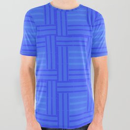 Elour Blue Tile All Over Graphic Tee