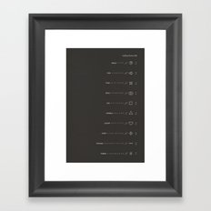 Building Blocks Dark Framed Art Print