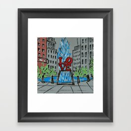 Little Love Park Sketch Framed Art Print