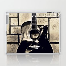 Be Your Song and Rock On in Black Laptop & iPad Skin