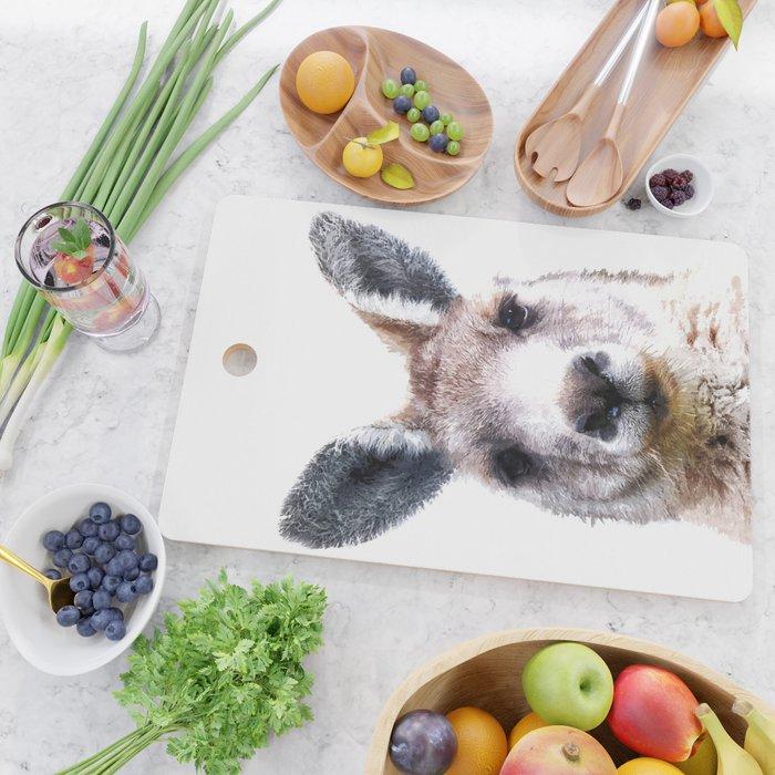 Kangaroo Portrait Cutting Board