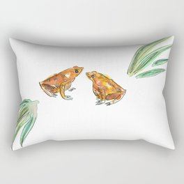 Let's frog about it! Rectangular Pillow