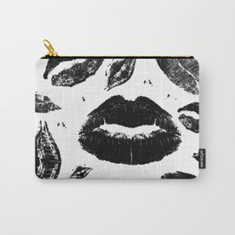 Kisses All Over (Black & White) Carry-All Pouch