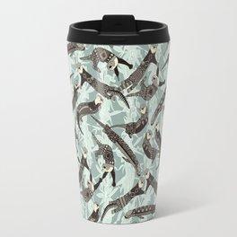 sea otters silver Travel Mug
