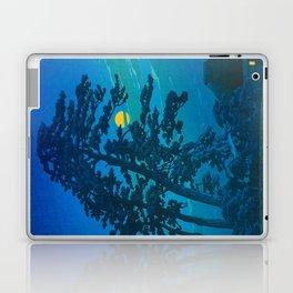 Vintage Japanese Woodblock Print Kawase Hasui Haunting Tree Silhouette At Night Moonlight Laptop & iPad Skin