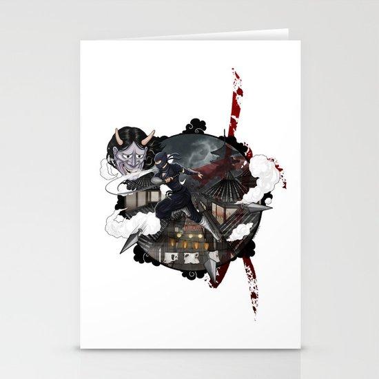Kunoichi 3 of 4 Stationery Cards
