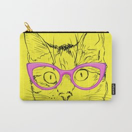 Hipster Stylish Cat Carry-All Pouch