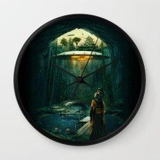 green layer Wall Clock