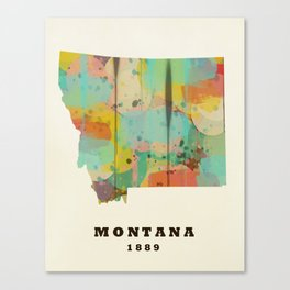 Montana state map modern Canvas Print