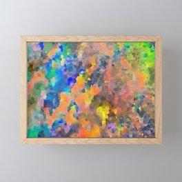Blue Green Orange Fire Opal Design Framed Mini Art Print