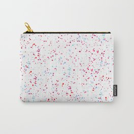 Pink teal watercolor hand painted paint splatters Carry-All Pouch