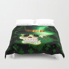 St Patrick Skull Cartoon  Duvet Cover