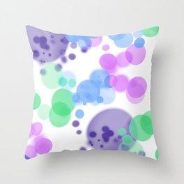 Bubbles, Bubbles Throw Pillow