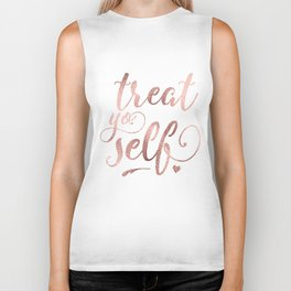 treat yo self Biker Tank