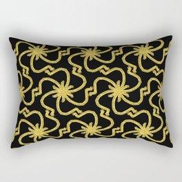 Golden Starburst Rectangular Pillow