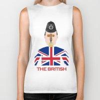 british flag Biker Tanks featuring The British by Dano77