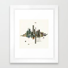 Collage City Mix 9 Framed Art Print