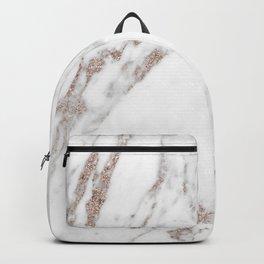 Rose gold shimmer vein marble Backpack
