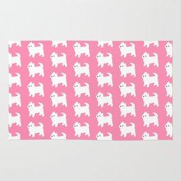 Westies Pink Pattern Rug