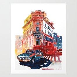 Rome Via Cavour Art Print