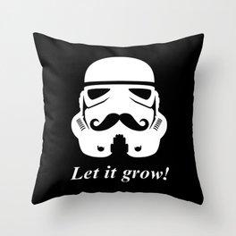 Bearded trooper Throw Pillow