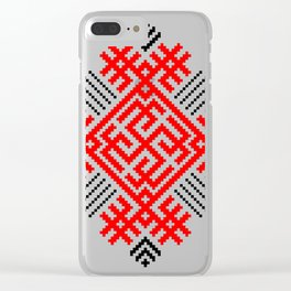 Rodimich - Antlers - Slavic Symbol #1 Clear iPhone Case