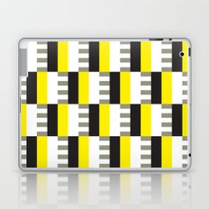 Yellow & black modernist pattern Laptop & iPad Skin