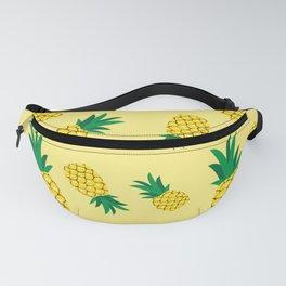 Lovely pineapple illustration pattern, yellow background illustration Fanny Pack
