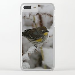 Yellow Rumped Warbler Clear iPhone Case