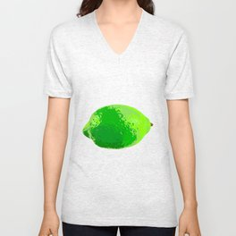 Lime Unisex V-Neck