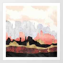 Distant Desert Art Print