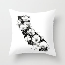 California In Bloom Throw Pillow