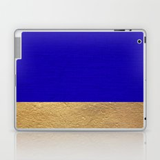 Color Blocked Gold & Cerulean Laptop & iPad Skin