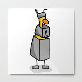Robot Duck Costume Metal Print