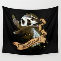 hufflepuff Wall Tapestries featuring Hufflepuff by Markusian