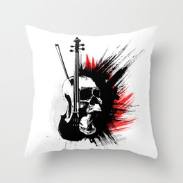 ViolinScull Throw Pillow