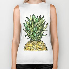 Pineapple for Tiffany Biker Tank