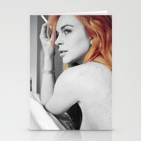 lindsay lohan Stationery Cards featuring Lindsay Lohan by Katieb1013