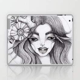 JennyMannoArt Graphite Drawing/Serena the mermaid Laptop & iPad Skin