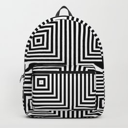 Square Optical Illusion Black And White Backpack