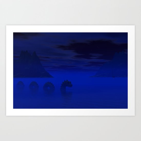 Midnight on the Loch Art Print