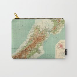 Vintage Map of New Zealand (1922) Carry-All Pouch