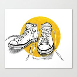 All stars converse on gold Canvas Print