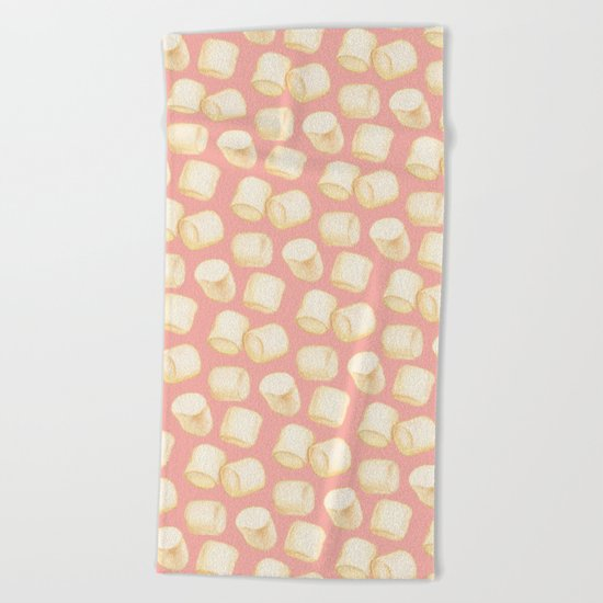 Marshmallow Pattern - Pink Beach Towel